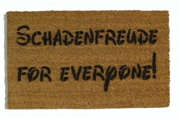 Schadenfreude for everyone!™ funny pleasure of pain doormat German