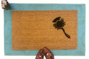Scottish thistle doormat