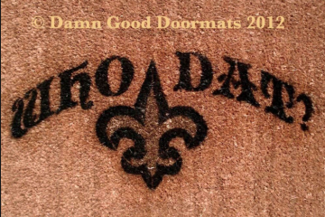 Who Dat New Orleans Saints football doormat