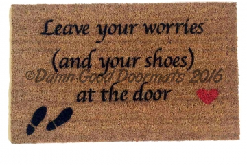 SCRIPT Leave your worries Doormat