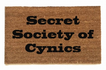 Secret Society of Cynics doormat