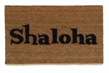 SHALOHA! Jewish Shalom Aloha funny doormat