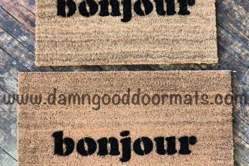 bonjour French good day doormat