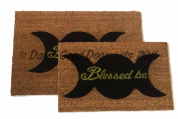 WICCAN Blessed be Goddess Moon doormat, witchcraft