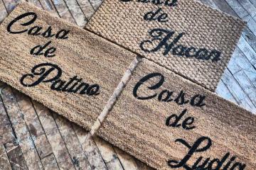 Custom name Casa de _ Spanish doormat