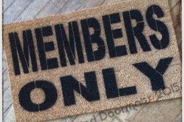 Members Only doormat