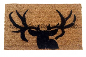 Deer head silhouette doormat