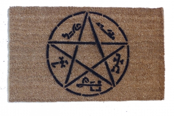 Devil's Trap Supernatural Pentagram Halloween doormat