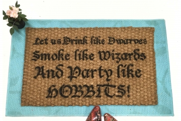 JRR Tolkien Party like a Hobbit nerd doormat