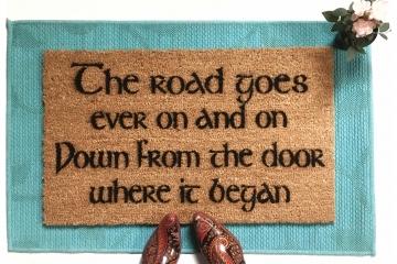 JRR Tolkien The ROAD goes ever on  nerd doormat