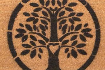 Tree of Life Hippy Love doormat