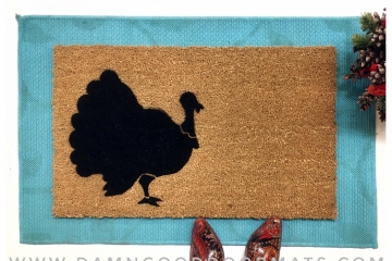 Thanksgiving Turkey Day holiday doormat