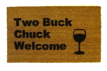 Two Buck Chuck wine welcome doormat