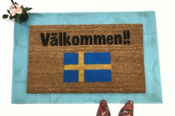 Välkommen!! It's Swedish for Welcome! with a Swedish flag