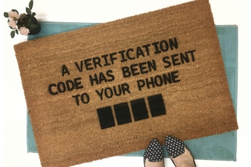 Verification code doormat