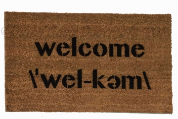 Welcome pronunciation doormat