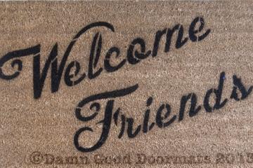 Welcome Friends doormat