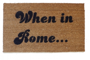 When in Rome Anchorman Ron Burgundy doormat