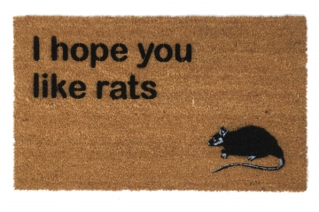 I hope you like rats doormat
