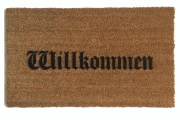 Willkommen German Olde style doormat