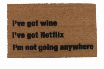Netflix beer,weed, cake, taco, tacos, vodka, cats... funny go away doormat