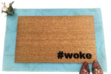 # woke doormat