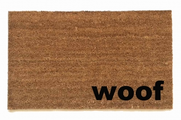 woof speak dog doormat