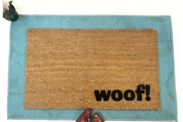 WOOF! speak dog doormat