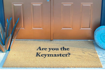 doublewide XL Keymaster Ghostbusters doormat