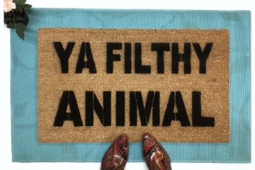 Ya Filthy Animal Home Alone doormat