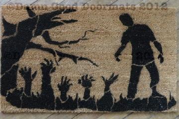 zombie halloween day of dead doormat